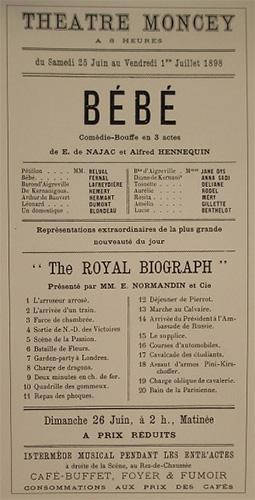 theatre moncey royal biograph 1898